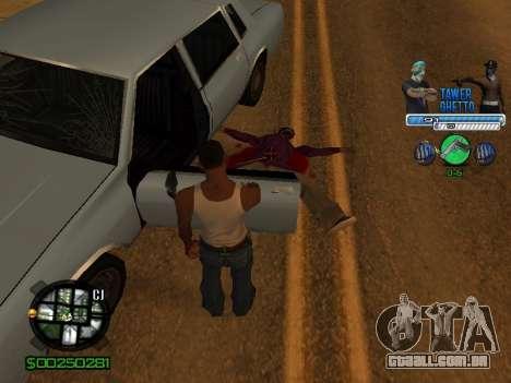 С-Hud Tawer-Gueto v1.6 Clássico para GTA San Andreas sétima tela