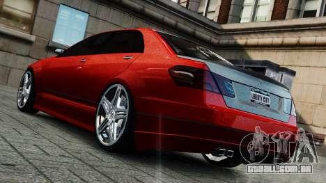 Schafter Gen. 2 Grey Series para GTA 4 traseira esquerda vista