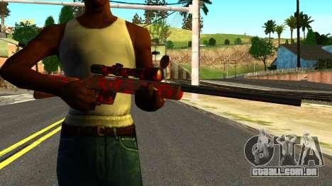 Rifle with Blood para GTA San Andreas terceira tela