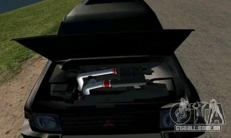 Mitsubishi Pajero Intercooler Turbo 2800 para vista lateral GTA San Andreas