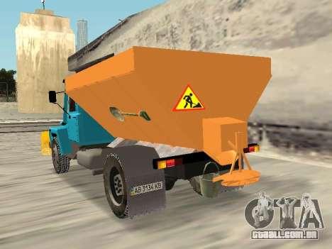 GAZ 3309 Neve para GTA San Andreas esquerda vista