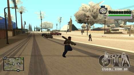 C-HUD v5.0 para GTA San Andreas por diante tela
