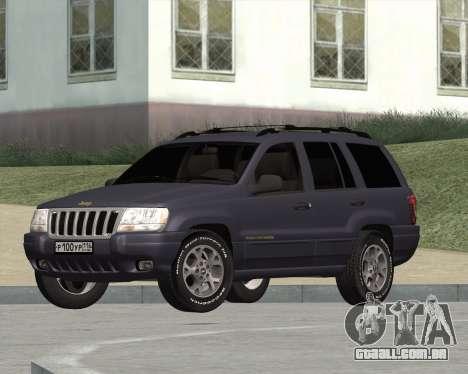 Jeep Grand Cherokee WJ para GTA San Andreas