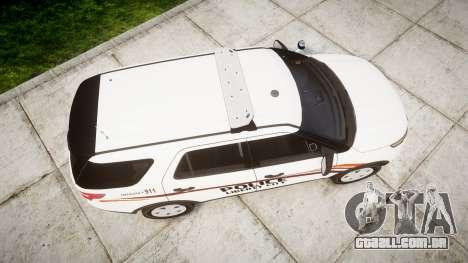 Ford Explorer 2013 Police Interceptor [ELS] para GTA 4 vista direita