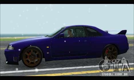 Nissan Skyline R33 para GTA San Andreas esquerda vista