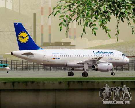 Airbus A319-100 Lufthansa para o motor de GTA San Andreas