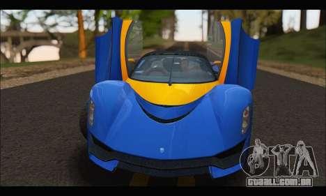 Grotti Turismo R v2 (GTA V) para GTA San Andreas vista traseira