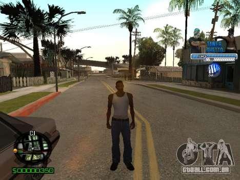 С-Hud Tawer-Gueto v1.6 Clássico para GTA San Andreas quinto tela