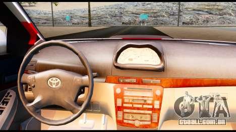 Toyota Vios TRD Racing para GTA San Andreas traseira esquerda vista