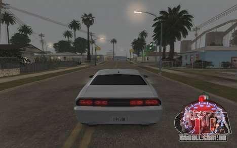 Natal velocímetro 2015 para GTA San Andreas quinto tela