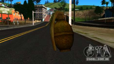 Grenade from GTA 4 para GTA San Andreas