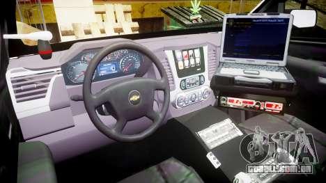 Chevrolet Tahoe 2015 County Sheriff [ELS] para GTA 4 vista de volta