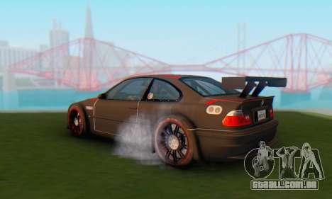 BMW M3 GTR para GTA San Andreas esquerda vista
