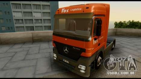 Mercedes-Benz Actros PJ1 para GTA San Andreas vista interior