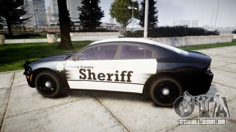 Dodge Charger 2015 County Sheriff [ELS] para GTA 4 esquerda vista