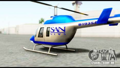 Beta News Maverick para GTA San Andreas esquerda vista