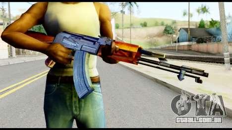 AK47 from Metal Gear Solid para GTA San Andreas terceira tela