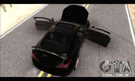 Hyundai Genesis Coupe 3.8 2013 para GTA San Andreas traseira esquerda vista