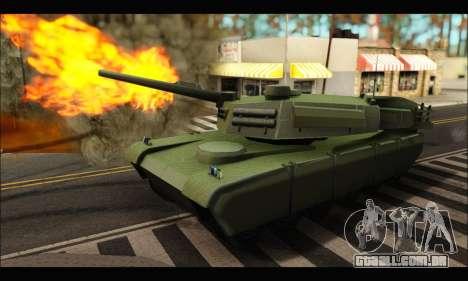 Retextured Rhino Tank para GTA San Andreas esquerda vista