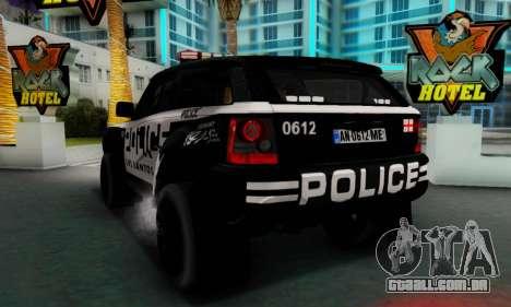 Bowler EXR S 2012 v1.0 Police para GTA San Andreas vista direita