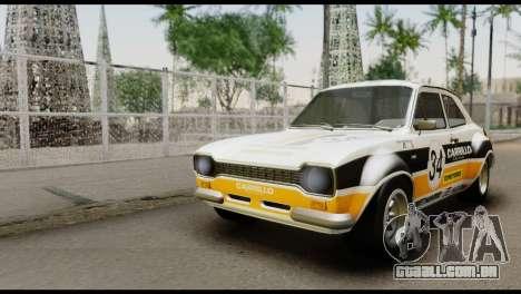 Ford Escort Mark 1 1970 para GTA San Andreas vista interior