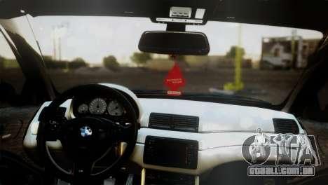 BMW M3 E46 MILKA para GTA San Andreas traseira esquerda vista