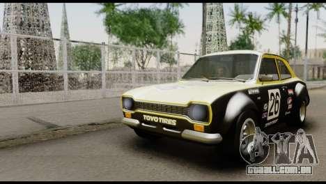 Ford Escort Mark 1 1970 para vista lateral GTA San Andreas