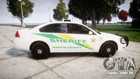 Chevrolet Impala Martin County Sheriff [ELS] para GTA 4