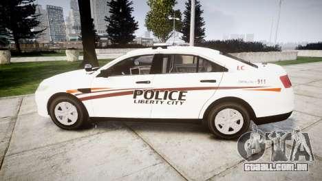 Ford Taurus 2014 Police Interceptor [ELS] para GTA 4 esquerda vista