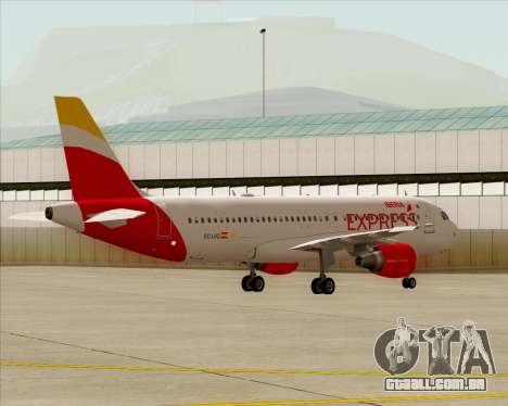 Airbus A320-200 Iberia Express para GTA San Andreas vista interior