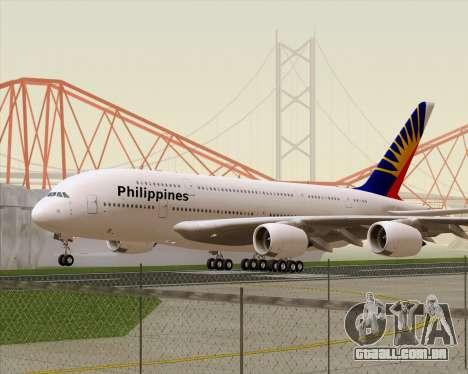 Airbus A380-800 Philippine Airlines para GTA San Andreas esquerda vista