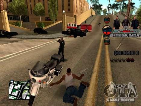 C-HUD Russian Mafia para GTA San Andreas por diante tela