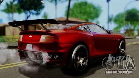 GTA 5 Dewbauchee Massacro Racecar (IVF) para GTA San Andreas esquerda vista
