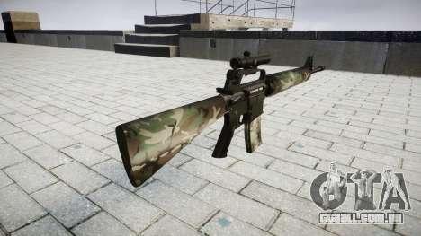 O M16A2 rifle [óptica] floresta para GTA 4 segundo screenshot