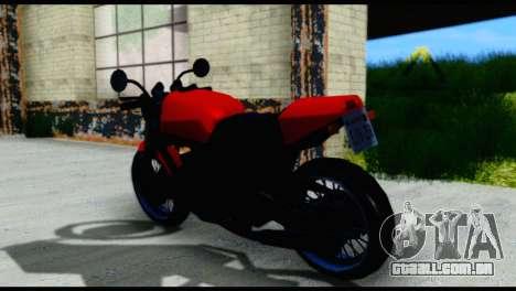 Streetfighter from Vice City Stories para GTA San Andreas traseira esquerda vista