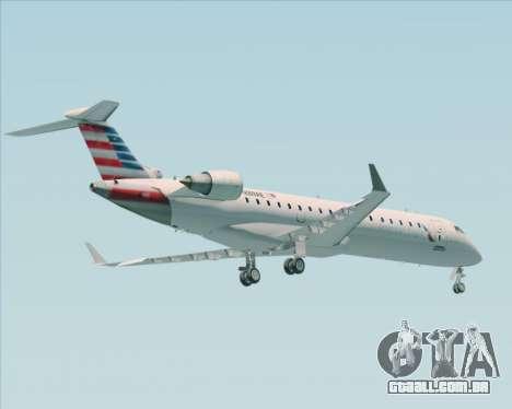 Bombardier CRJ700 American Eagle Airlines para GTA San Andreas vista traseira