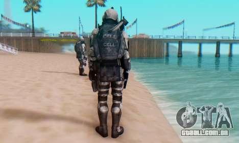 C.E.L.L. Soldier (Crysis 2) para GTA San Andreas sexta tela