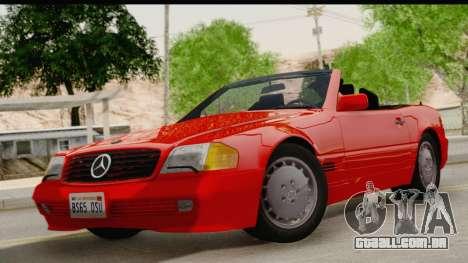 Mercedes-Benz 500SL R129 1992 para GTA San Andreas traseira esquerda vista