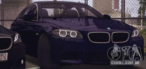 BMW M550d 2014 para GTA San Andreas traseira esquerda vista