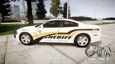 Dodge Charger 2013 Sheriff [ELS] v3.2 para GTA 4 esquerda vista
