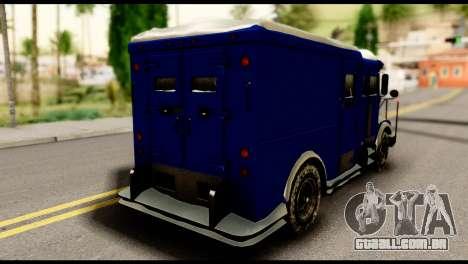GTA 5 Stockade para GTA San Andreas esquerda vista