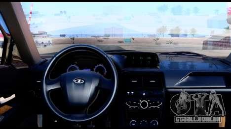 Lada Priora 2 para GTA San Andreas traseira esquerda vista