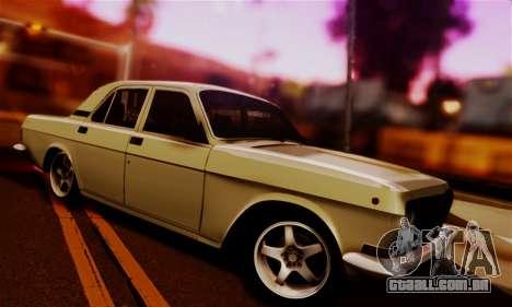 GAZ 24 Volga para GTA San Andreas vista traseira