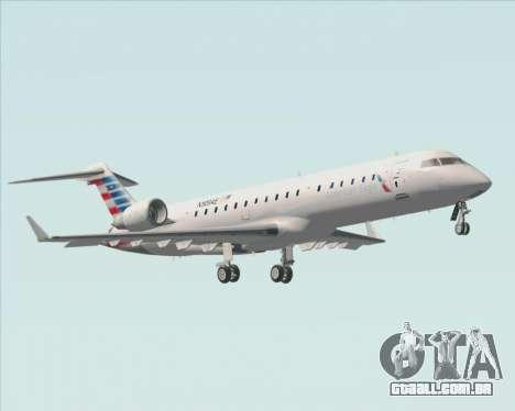 Bombardier CRJ700 American Eagle Airlines para GTA San Andreas vista inferior