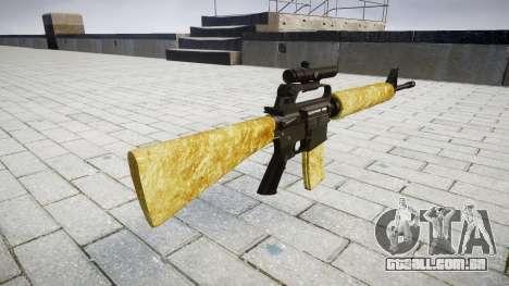 O M16A2 rifle [óptica] ouro para GTA 4 segundo screenshot