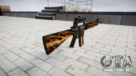O M16A2 rifle [óptica] tigre para GTA 4 segundo screenshot