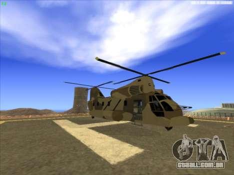 GTA 5 Cargobob para GTA San Andreas esquerda vista