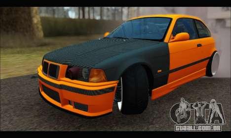 BMW e36 Drift para GTA San Andreas vista traseira