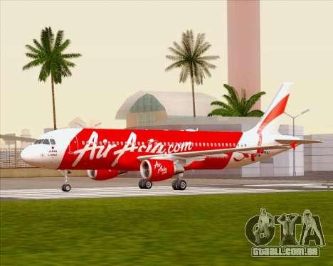 Airbus A320-200 Air Asia Japan para GTA San Andreas vista interior