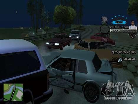 C-HUD Old Legend para GTA San Andreas quinto tela